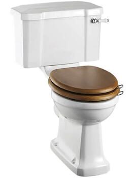 Burlington Close Coupled Rimless WC Pan And 44cm Cistern With Ceramic Lever