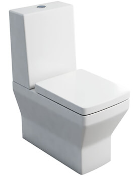 Britton Cube S20 Close Coupled WC With One Piece Cistern And Seat