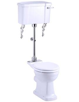 Burlington Regal Medium Level Toilet With White Ceramic Lever