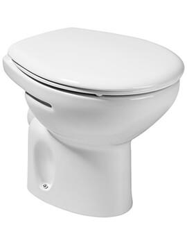 Roca Laura Back-To-Wall Toilet Pan - Floor Mounted