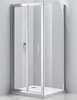 Frontline Aquaglass Purity 760mm Bi-Fold Door And Side Panel Pack