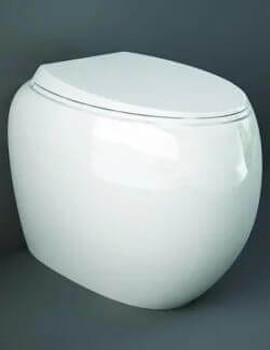 RAK Cloud Rimless Back To Wall Toilet With Urea Soft Close Seat