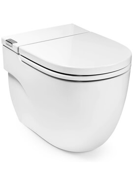 Roca Meridian-N In-Tank Back-To-Wall Toilet With Seat And Cover