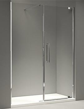 Merlyn 10 Series Pivot Door And Inline Panel - W 1400 x H 2030mm
