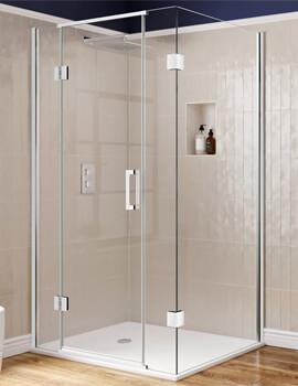 Aqata Design DS475 1000 x 760mm Hinged Door With Inline Panels For Corner Installation