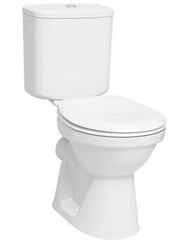 VitrA Milton Close Coupled WC Pan With Cistern And Toilet Seat