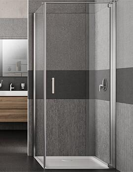 Lakes Italia Vivo Right-Hand Pivot Door With Optional Side Panel - W 700 x H 2000mm