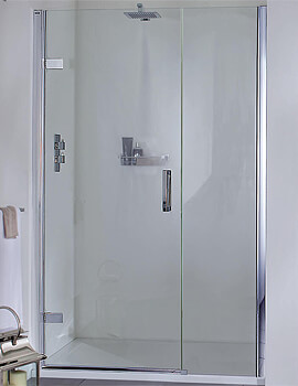 Aqata Spectra SP457 800mm Hinged Door And Inline Panel For Recess