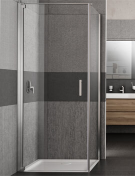 Lakes Italia Vivo Left-Hand Pivot Door With Optional Side Panel - W 700 x H 2000mm