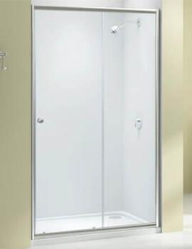 Merlyn Ionic Source Sliding Shower Door 6mm Glass - W 1000 x H 1850mm