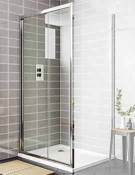 Essential Spring 1400mm Sliding Shower Door