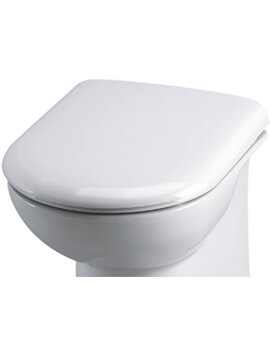 Essential Gem D-Shape Soft Close Toilet Seat And Cover - White