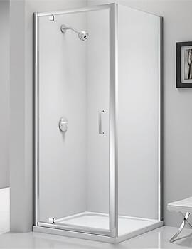 Merlyn Ionic Express Pivot Shower Door 6mm Glass - W 700 x H 1900mm