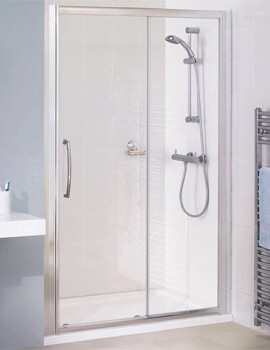 Lakes Classic Semi-Frameless Slider Door - W 1300 x 1850mm