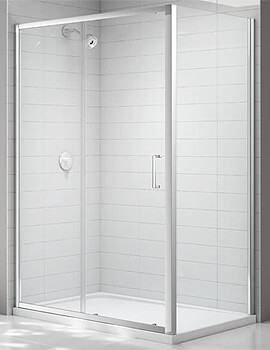 Merlyn Ionic Express Sliding Shower Door 6mm Glass - W 1000 x H 1900mm