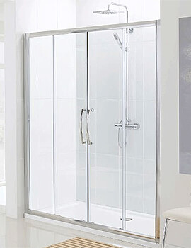 Lakes Classic Semi-Frameless Slider Shower Door - W 1500 x H 1850mm