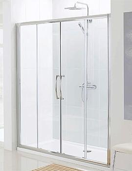 Lakes Classic Semi-Frameless Slider Shower Door - W 1600 x H 1850mm