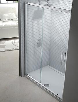 Merlyn 6 Series Sliding Shower Door - Width 1400 x Height 1900mm