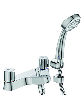 Ideal Standard Alto Dual Control Bath Shower Mixer Tap With Shower Set