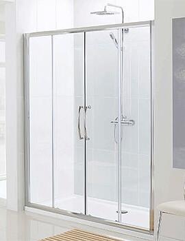 Lakes Classic Semi-Frameless Slider Shower Door - W 1700 x H 1850mm