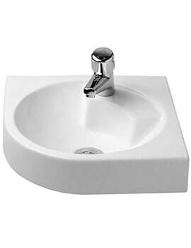 Duravit Architec Coner Washbasin Without Overflow - W 635 x D 540mm