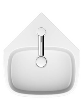 Crosswater Kai S 420mm Wide Corner 1 Taphole Basin With Overflow