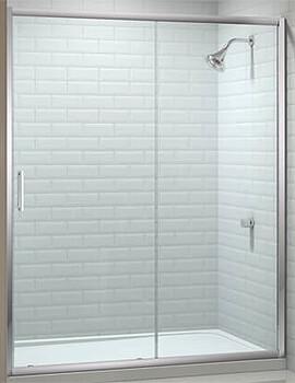 Merlyn 8 Series Sliding Shower Door 8mm Clear Glass - W 1300 x H 1950mm