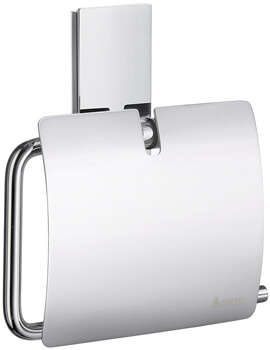 Smedbo Pool Toilet Roll Holder With Lid - Polished Chrome