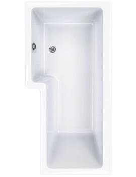 Carron Quantum 5mm Acrylic Square Shower Bath 1600 x 850mm Left Hand