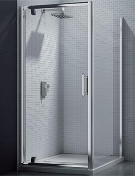 Merlyn 6 Series Pivot Shower Door - W 700 x H 1900mm