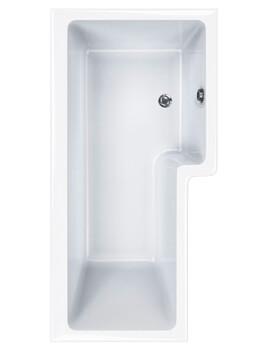 Carron Quantum 5mm Acrylic Square Shower Bath 1700 x 850mm Right Hand