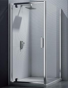 Merlyn 6 Series Pivot Shower Door - W 760-800 x H 1900mm
