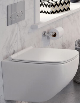 Crosswater Infinity Rimless Wall Hung WC With Soft Close Seat - IF6116CW
