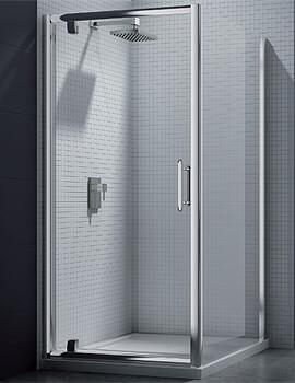 Merlyn 6 Series Pivot Shower Door - Width 1000 x Height 1900mm