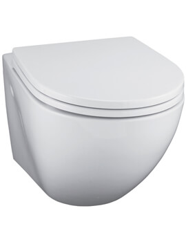 Ideal Standard White Wall Mounted WC Pan With Horizontal Outlet