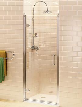 Burlington Hinged Shower Door - W 900 x H 1950mm