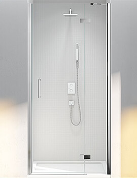 Merlyn 6 Series Frameless Hinge Door And Inline Panel For Recess - W 760 x 2000mm