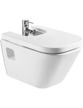 Roca The Gap Wall Hung Bidet With 1 Tap Hole - 540mm Projection