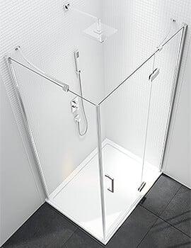 Merlyn 6 Series Frameless Hinge Door And Inline Panel - 800mm Plus Wide