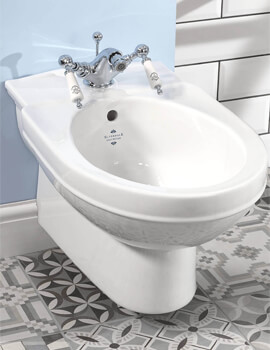 Silverdale Damea 360 x 570mm Wall Mounted 1 Taphole Bidet
