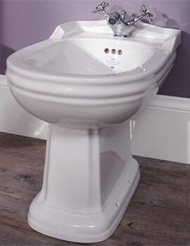Silverdale Balasani 360 x 570mm White Freestanding Back To Wall Bidet