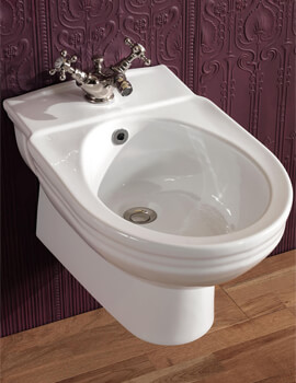 Silverdale Victorian 360 x 570mm Wall Mounted Bidet