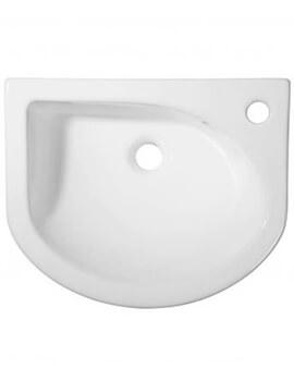 Tavistock Micra Slim Depth Semi Recess Basin - W 460 x D 370 x H 150mm