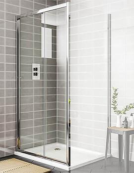 Essential Spring 1700mm Sliding Shower Door