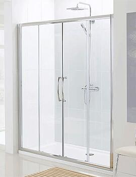 Lakes Classic Semi-Frameless Slider Shower Door - W 1200 x H 1850mm