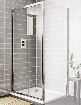 Essential Spring 1100mm Sliding Shower Door