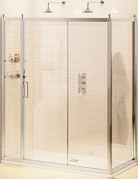 Burlington Soft Close Slider Door 120cm With 76cm Side Panel