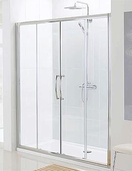 Lakes Classic Semi-Frameless Slider Shower Door - W 1800 x H 1850mm