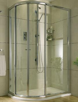 Aqata Exclusive ES360 Quadrant 550 Radius 900 x 800mm Sliding Shower Door