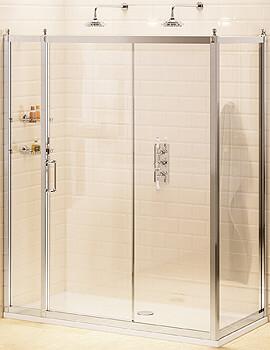 Slider Door 140cm With 30cm In-Line Panel And 80cm Side Panel